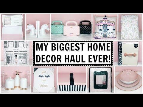 MY BIGGEST HOME DECOR HAUL EVER!! ♡ HomeGoods, TJ Maxx, Marshalls, Target & Oliver Gal ♡ June 2017