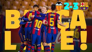 A SUFFERED VICTORY 😬 ⚽ BARÇA LIVE | VALENCIA 2 - BARÇA 3 from Mestalla | Warm up & Match Center
