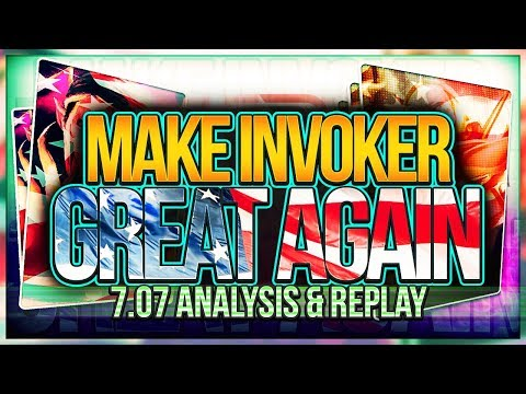 How 7.07 changed Invoker - Analysis & 6000 MMR Replay Commentary