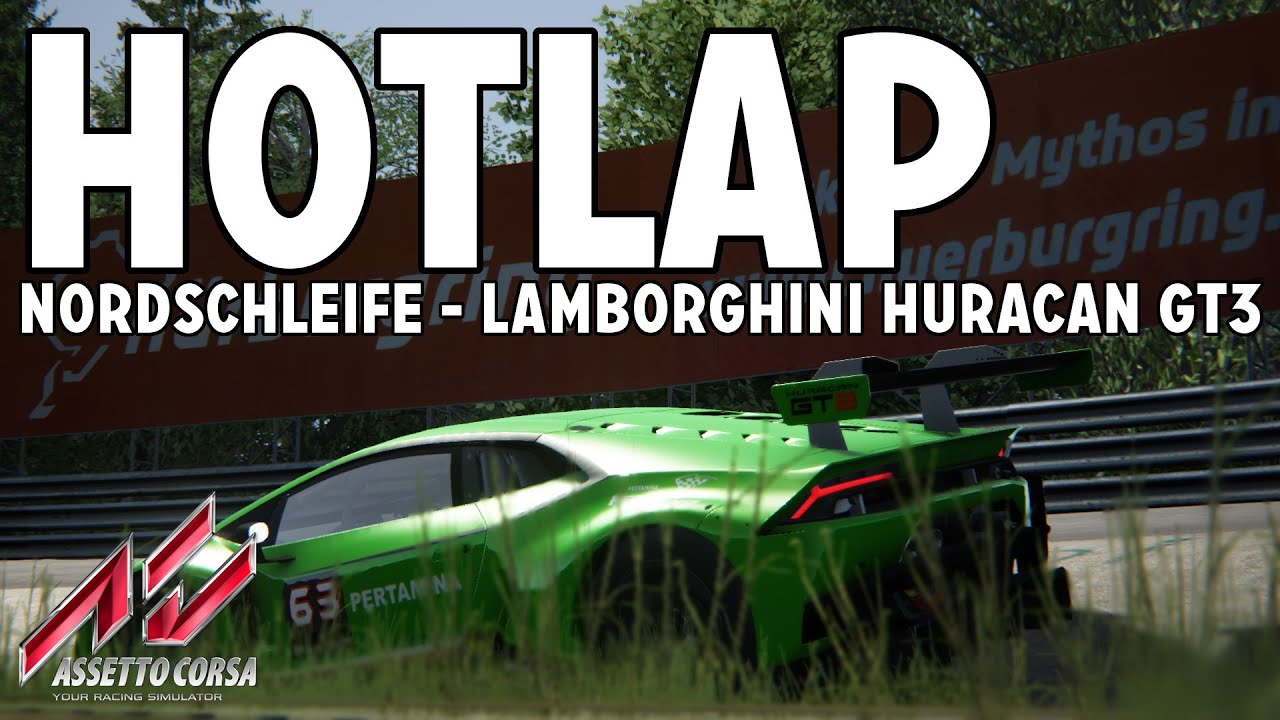 assetto corsa hotlap lamborghini huracan gt3 nordschleife hd pc youtube. Black Bedroom Furniture Sets. Home Design Ideas