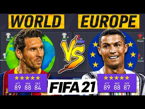 Europe's Best XI Vs Rest of The World XI | FIFA 21 Experiment
