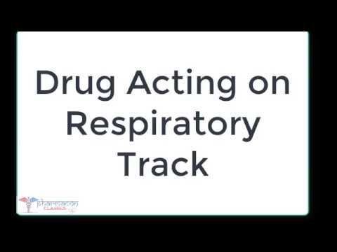 Drug acting on Respiratory track & Anti asthmatic Drugs