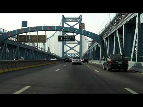 Benjamin Franklin Bridge westbound