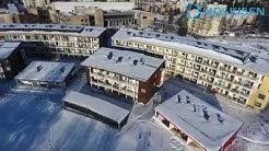Helsingin Honkasuolle rakennetut puukerrostalot ilmasta kuvattuna