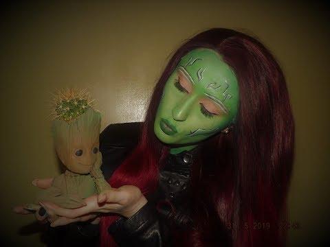 Gamora Makeup tutorial thumbnail