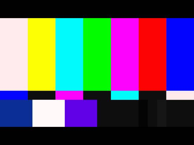 HD SMPTE Color Bars & Tones 1920x1080 Test Pattern Jazz