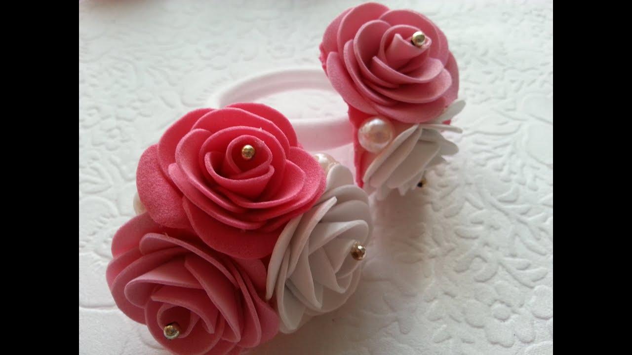 Цветы из фоамирана своими руками фото фото 581