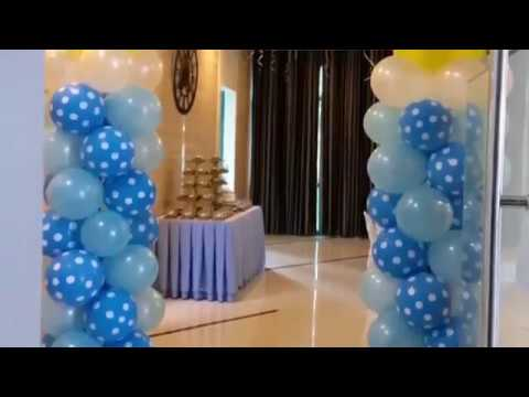 Baptismal Themed Balloon Decor Cake And Cupcake Ideas