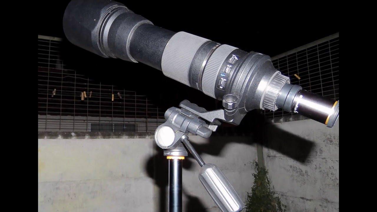 29097aace6 Como hacer un telescopio con un lente fotografico - YouTube