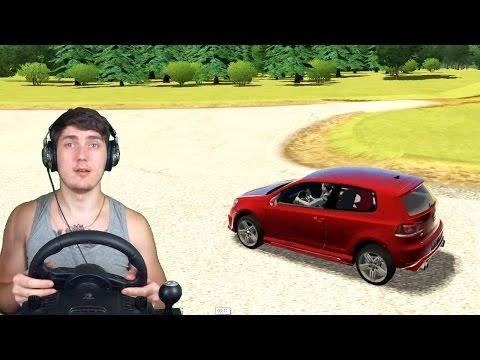 ГОНКИ НА ГОЛЬФЕ ПО ГОРОДУ + РУЛЬ  (Logitech Driving Force GT )  3d инструктор