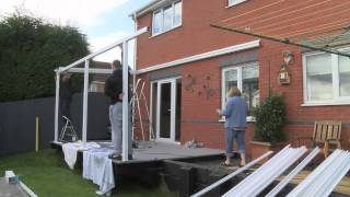 Aluminium Carport Canopy Installation Demonstration