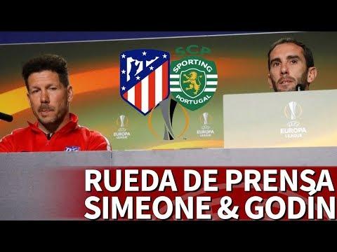 Atlético-Sporting   Rueda de prensa previa de Simeone y Godín   Diario AS