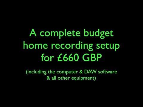 Build A Super Budget Home Recording Studio (System 1)