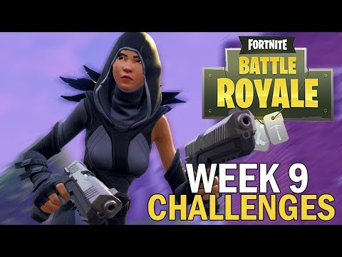 Week 9 Challenges - Fortnite Battle Royale Gameplay - Season 4 - Xbox One X