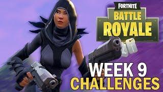 Week 9 Challenges - Fortnite Battle Royale Gameplay - Season 4 - Xbox One X