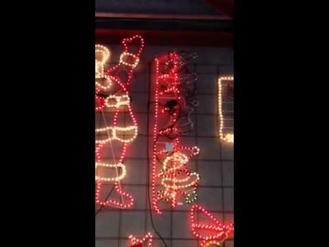 180cm38cm led animated santa climbing ladder christmas motif led animated santa climbing ladder christmas motif rope lights aloadofball Gallery