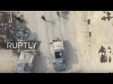 Iraq: Drone footage captures Iraqi military build up east of Mosul