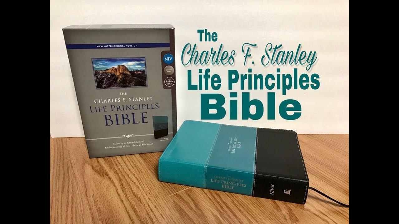 Charles F  Stanley Life Principles Bible Large Print NIV