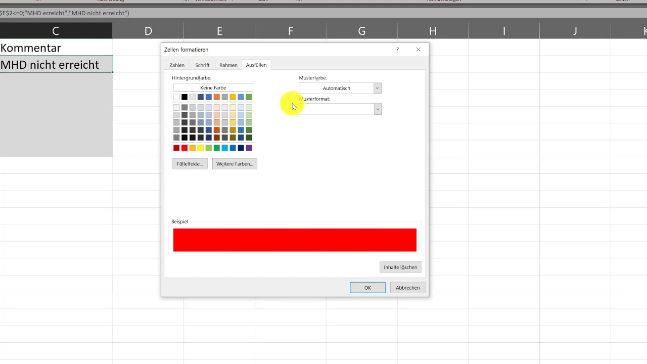 Microsoft Excel - Bedingte Formatierung