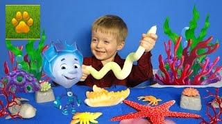 Морские Животные для Детей с Фиксиками Нолик и Морская Змея  Детям про животных Видео для детей