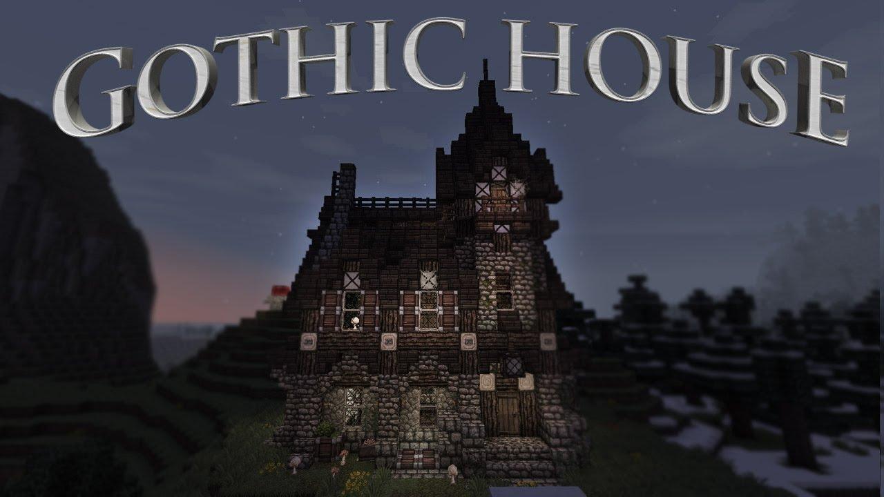 Awesome Minecraft Gothic House Blueprints Part - 6: Gothic House Design