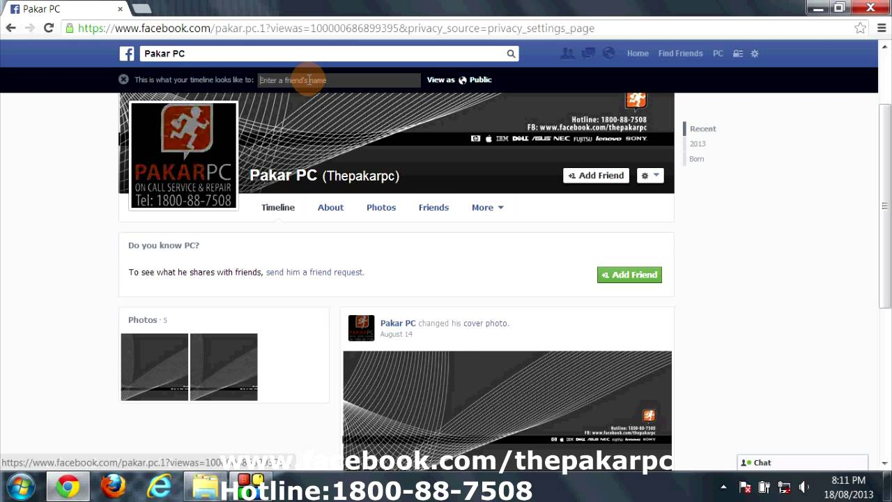 Facebook-Timeline And Tagging Setting
