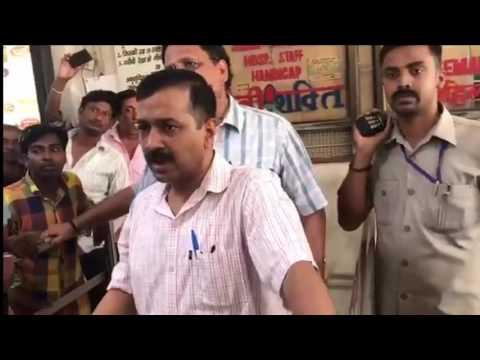 Delhi CM Arvind Kejriwal Sudden visits MV govt hospital