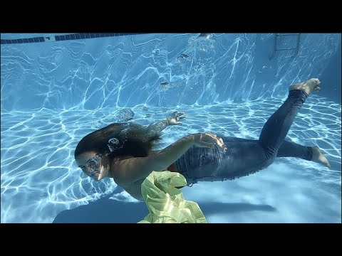 Swimming Underwater with Clothes On with Jeans