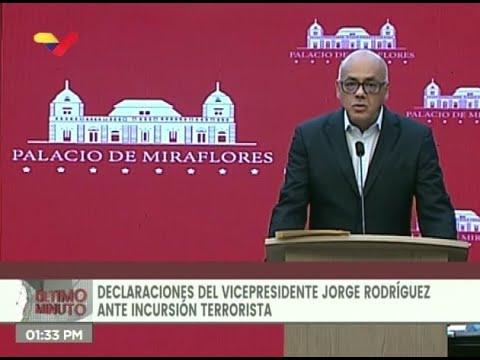 Jorge Rodríguez, rueda de prensa el 21 de mayo 2020 sobre Operación Gedeón y nuevos testimonios