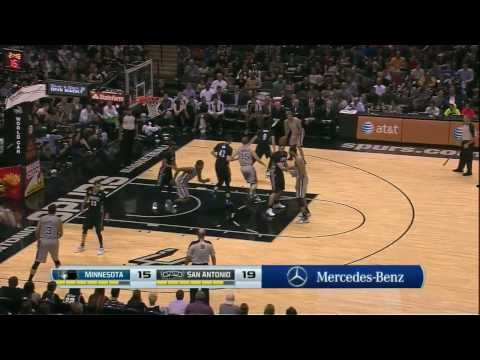 Tony Parker & Matt Bonner abuse Kevin Love, Ricky Rubio, and Cory Brewer