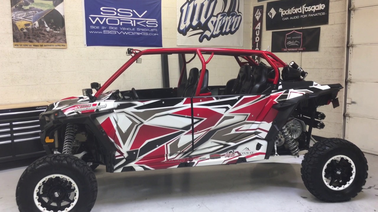 Supercharged Polaris Rzr with Audio System from UTV Stereo by UTV Stereo