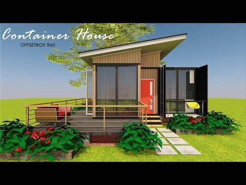 Shipping Container 3 Bedroom Bungalow House Design+Floor Plans