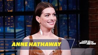 Anne Hathaway Had An Accidental Diva Moment on the Set of Serenity