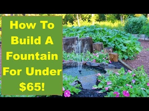 Tips and Ideas on How-to Build a Backyard Fountain for Your Garden or Patio…for Under $65!