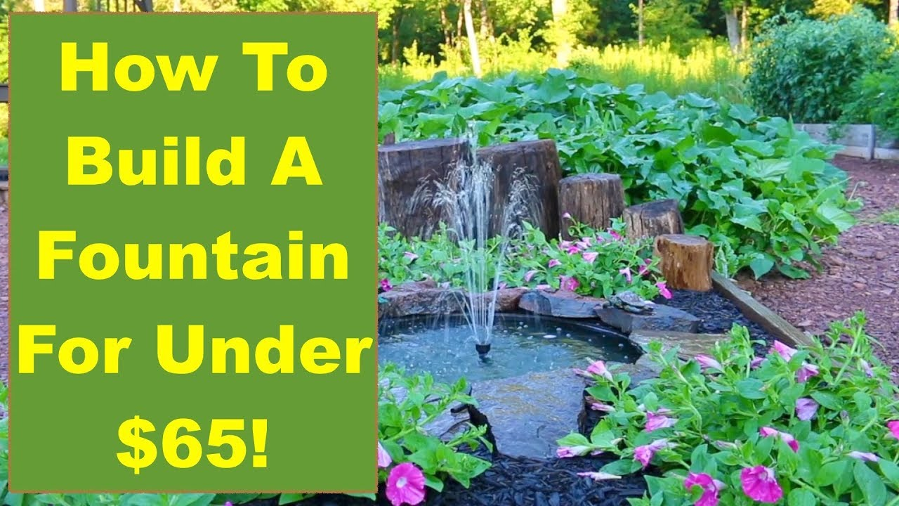 Tips And Ideas On How To Build A Backyard Fountain For Your Garden Or Patio...for  Under $65!
