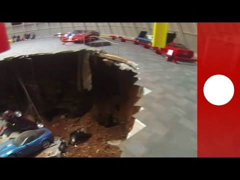 National Corvette Museum >> Huge sinkhole devours eight vintage Corvettes in Kentucky ...