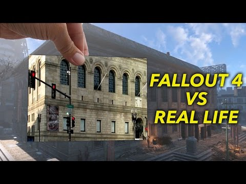 Fallout 4: REAL LIFE vs In-Game Landmarks