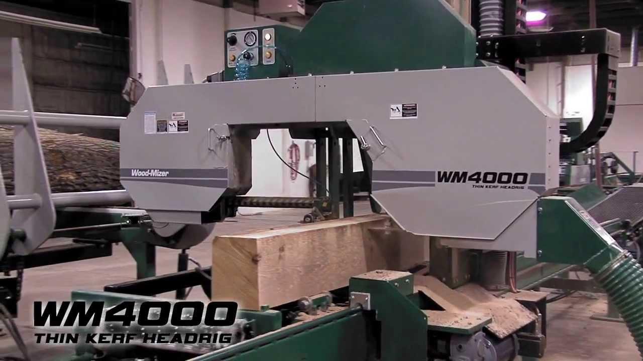 Wood-Mizer WM4000 Industrial Sawmill - High Production Thin-Kerf Headrig