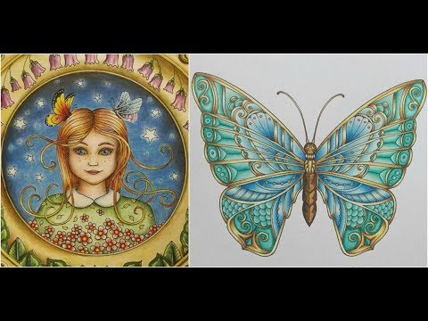 Ivy and the Inky Butterfly – Johanna Basford – every page colored – flipthrough