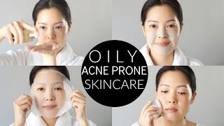 Basic Oily & Acne-Prone Skincare Routine and Essentials!