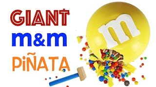 GIANT m&m Candy Piñata | How to Make a No Bake m&m's SMASH Cake