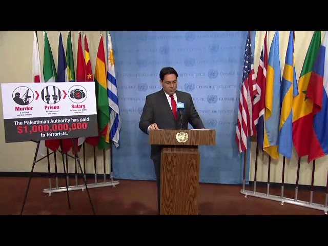 Danny Danon (Israel) on the Middle East, including the Palestinian question - Media Stakeout