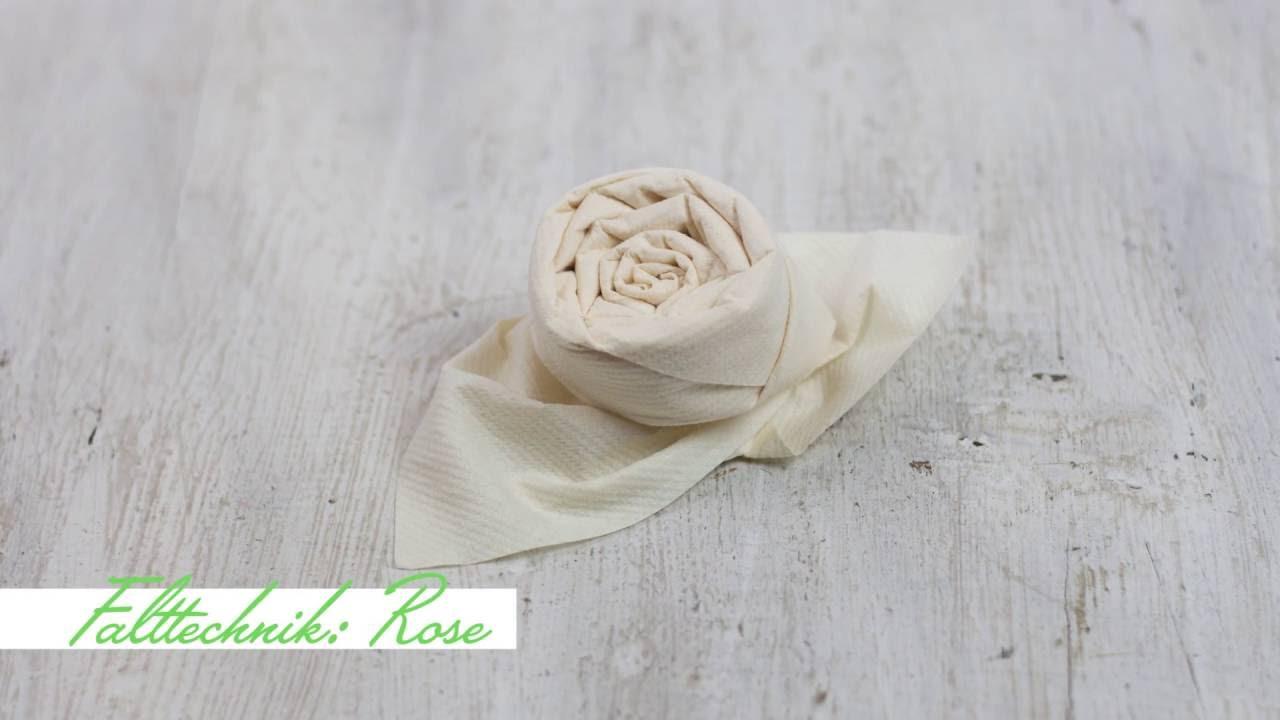 servietten falten rose mank werksverkauf youtube. Black Bedroom Furniture Sets. Home Design Ideas