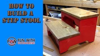 Project - Build A Small Step Stool Out Of Plywood And Pine