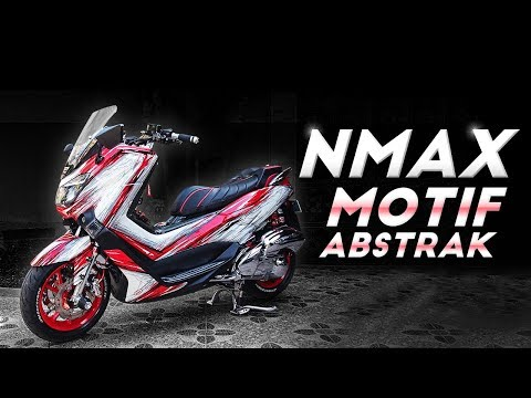 Modifikasi Yamaha NMax Motif Abstrak