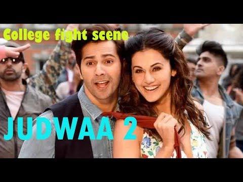 Judwaa 2 Fight Scene In College