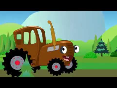 Песенка для детей - Синий трактор - Учим названия животных