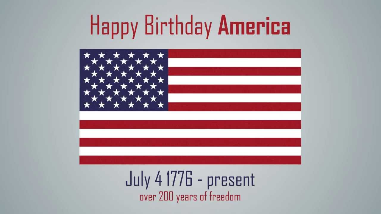 Happy Birthday America 4th Of July After Effects Style