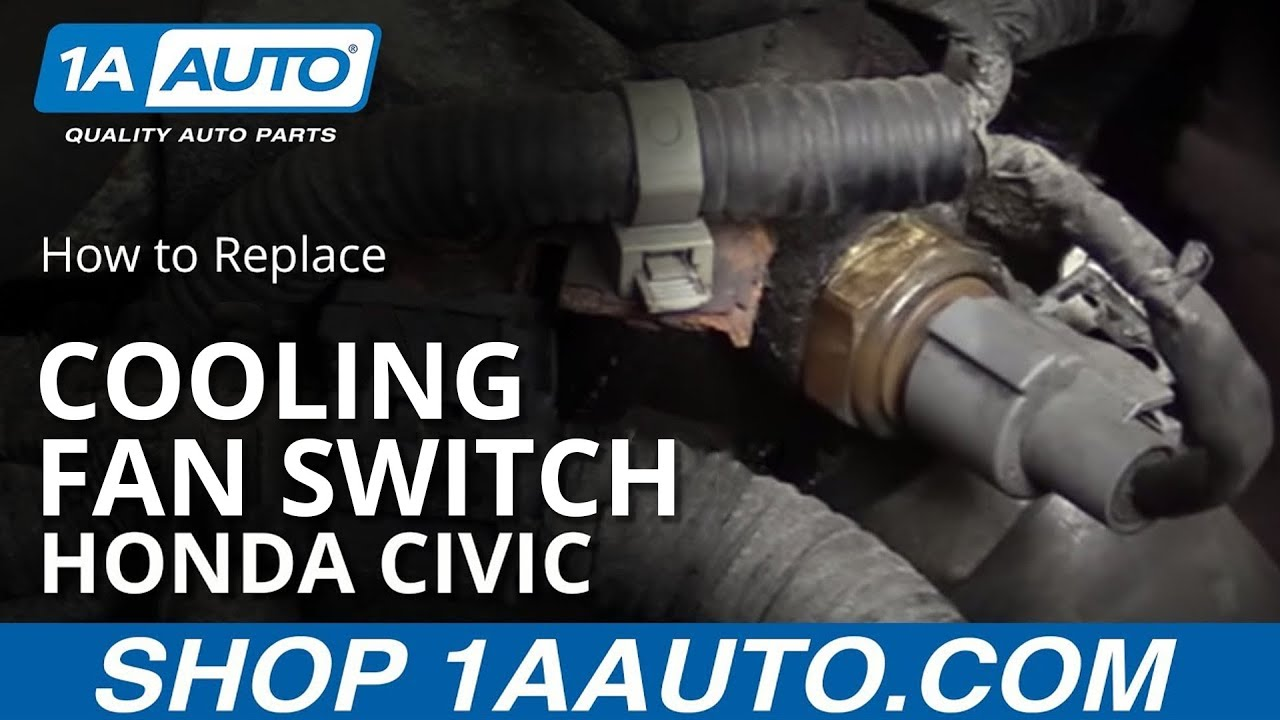 How to Replace Coolant Temperature Sensor 01-05 Honda Civic 1 7L
