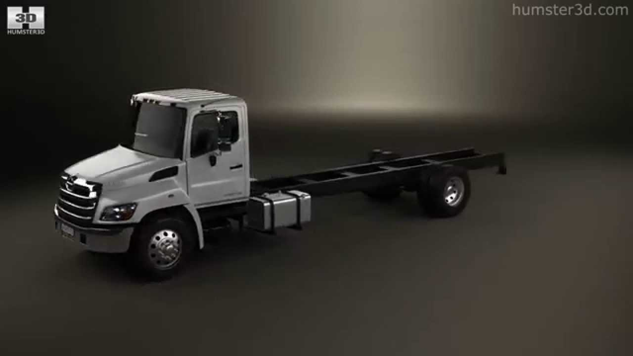 Hino 268 A Chassis Truck axle 2007 by 3D model store Humster3D com